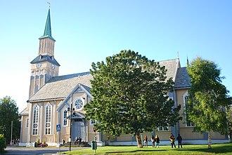 Tromsø Cathedral - Image: Tromso Domkirke Fra R Withs Plass