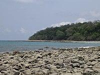 Tropical dry forest and coast at Aramaco River estuary, Muapitine, Lautem, Timor-Leste (9 Oct 2004).jpg