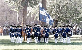 Troupes de la marine - Troupes de la Marine in formation.