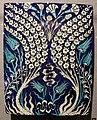 Turchia, iznik, mattonella con rami fioriti, 1540-45 ca. 02.JPG