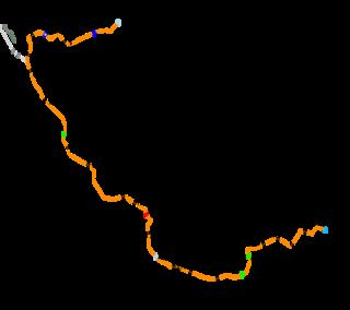Light rail line in Stockholm, Sweden