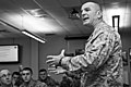 U.S. Marine Corps Sgt. Maj. Bryan B. Battaglia, the senior enlisted adviser to the chairman of the Joint Chiefs of Staff, speaks to U.S. Soldiers and Airmen with the Illinois National Guard at the 182nd Airlift 130406-Z-EU280-090.jpg