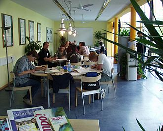Environmental Campus Birkenfeld - UCB Contact, a place to meet and have a coffee.