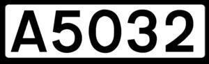 A5117 road - Image: UK road A5032