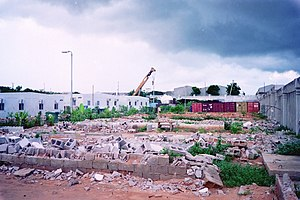 UNOSOM compound in Mogadishu, Somalia