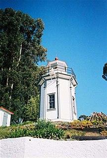 Yerba Buena Light lighthouse in the San Francisco Bay, California