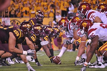 Arizona State Football Team in September 2011 USC vs ASU 2011.jpg