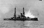 USS Alabama (BB-8) being hit by phosphorous bomb.jpg