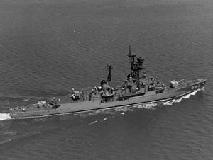 USS Blandy (DD-943) underway at sea c1970