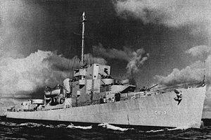 USS Brennan (DE-13) - USS Brennan (DE-13) underway in 1943