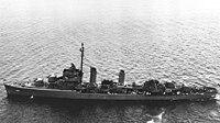 USS Frankford (DD-497) at anchor off New York on 19 June 1945.jpg