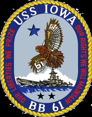 Ralph Heywood - Image: USS Iowa COA 2