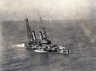 USS Massachusetts (BB-2) - Massachusetts being scuttled off the coast of Pensacola