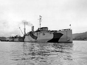 USS Oglala (CM-4) - USS Oglala in the Southwest Pacific, 1944.
