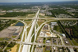 Aerial photograph of the interchange