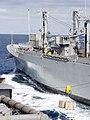 US Navy 021101-N-9236M-060 Ordnance transfers aboard USS Carl Vinson from the military sealift command ship USNS Mount Shasta.jpg