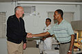 US Navy 040504-N-0435H-021 Vice Adm. Michael L. Cowan, Surgeon General of the Navy and Chief, Bureau of Medicine and Surgery, visits the Branch Medical and Dental Clinics aboard Naval Air Facility Atsugi.jpg