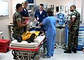 US Navy 040703-N-9362D-003 U.S. Naval Hospital, Guantanamo Bay Gitmo staff participates in an emergency room training exercise.jpg