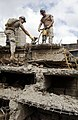US Navy 060125-F-2902B-100 U.S. Navy Seabees remove debris from a building that collapsed on Nairobi's Ronald Ngala Street Kenya, Africa, Jan. 24, 2006.jpg