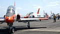 US Navy 060430-N-6484E-001 A T-45A Goshawk trainer jet prepares to launch from the flight deck aboard the Nimitz-class aircraft carrier USS Theodore Roosevelt (CVN 71).jpg