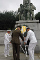 US Navy 070915-N-0021M-005 A wreath laying during the 57th Incheon Landing Operations Commemoration Ceremony.jpg