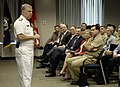 US Navy 080613-N-7676W-010 Chief of Naval Operations, Admiral Gary Roughead, conducts an all-hands call at the Office of Naval Research in Arlington.jpg