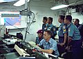 US Navy 080721-N-3446M-011 Electronics Technician 1st Class Joshua Hoeksema of Commander, Logistics Group Western Pacific, explains the combined enterprise network regional information exchange system.jpg