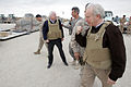 US Navy 081207-M-6159T-144 U.S. Senators John McCain and Joe Lieberman leave the airfield aboard Camp Bastion.jpg