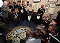 US Navy 090109-N-7948R-003 U.S. Rep. Howard Coble speaks with the 2008 Recruiters of the Year during a tour of the U.S. Capitol. Coble served 5 years in the U.S. Coast Guard on active duty and 18 years in the Coast Guard Reserv.jpg