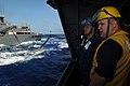 US Navy 090605-N-2344B-011 Boatswain's Mate 1st Class Noelle Barker briefs Seaman Steve Rowe.jpg