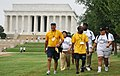 US Navy 090829-N-9268E-003 Capt. Cedric Pringle walks with students from historically black colleges and universities during the Historically Black Colleges and Universities National Health Walk.jpg