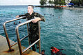 US Navy 100115-N-1906L-004 Master-at-Arms 3rd Class Brandon Marshall, assigned to Maritime Expeditionary Security Squadron (MSRON) 7.jpg