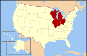 East North Central States - Image: US map E North Central