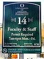 U of O Parking Lot 14 Sign (37641513255).jpg
