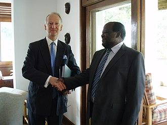 Leader of Opposition (Uganda) - Image: Ugandan Opposition Leader Professor Morris Latigo (4818083345)