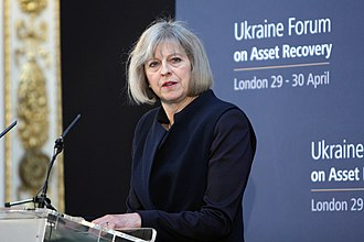 Home Office under Theresa May - May speaking at the Ukraine Forum on Asset Recovery in 2014