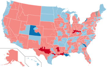 2004 House election results map