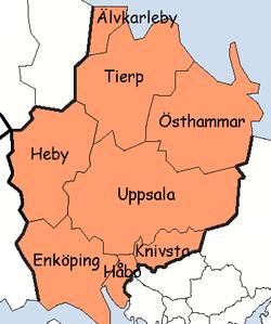 Kommuner I Blekinge Karta.Uppsala Lan Wikipedia