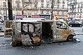 Véhicule incendié avenue Kléber - Gilets jaunes 2.jpg