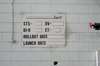 Space Shuttle retirement - Empty status board in the Vehicle Assembly Building