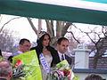Valérie Bègue signat des autographe à l'hipodrome de pau le 13 janvier 2008 vue 8.JPG