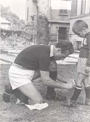 Sandro Mazzola - A young Sandro Mazzola, with his father Valentino in 1949