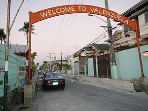Valenzuela, Metro Manila - Welcome (boundary) arch view from Obando, Bulacan.