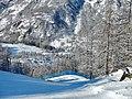 Valtournenche from ski run Reine Bianche (Gran Pista di Valtournenche) - panoramio.jpg