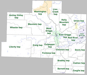 Van Buren County, Arkansas - Townships in Van Buren County, Arkansas, as of 2010