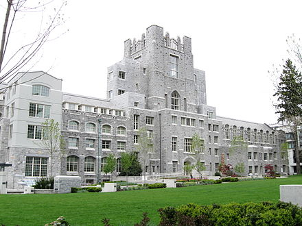 The University of British Columbia has the largest number of students enrolled in western Canada. Vancouver school of theology (UBC-2009).JPG