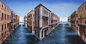 Patrick Hughes (artist) - Patrick Hughes. Vanishing Venice.
