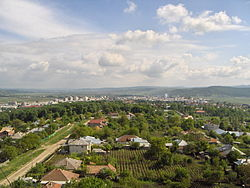 View of Vaslui from the northern outskirts