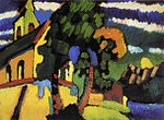 Vassily Kandinsky, 1908 - Riegsee, The Village Church.jpg