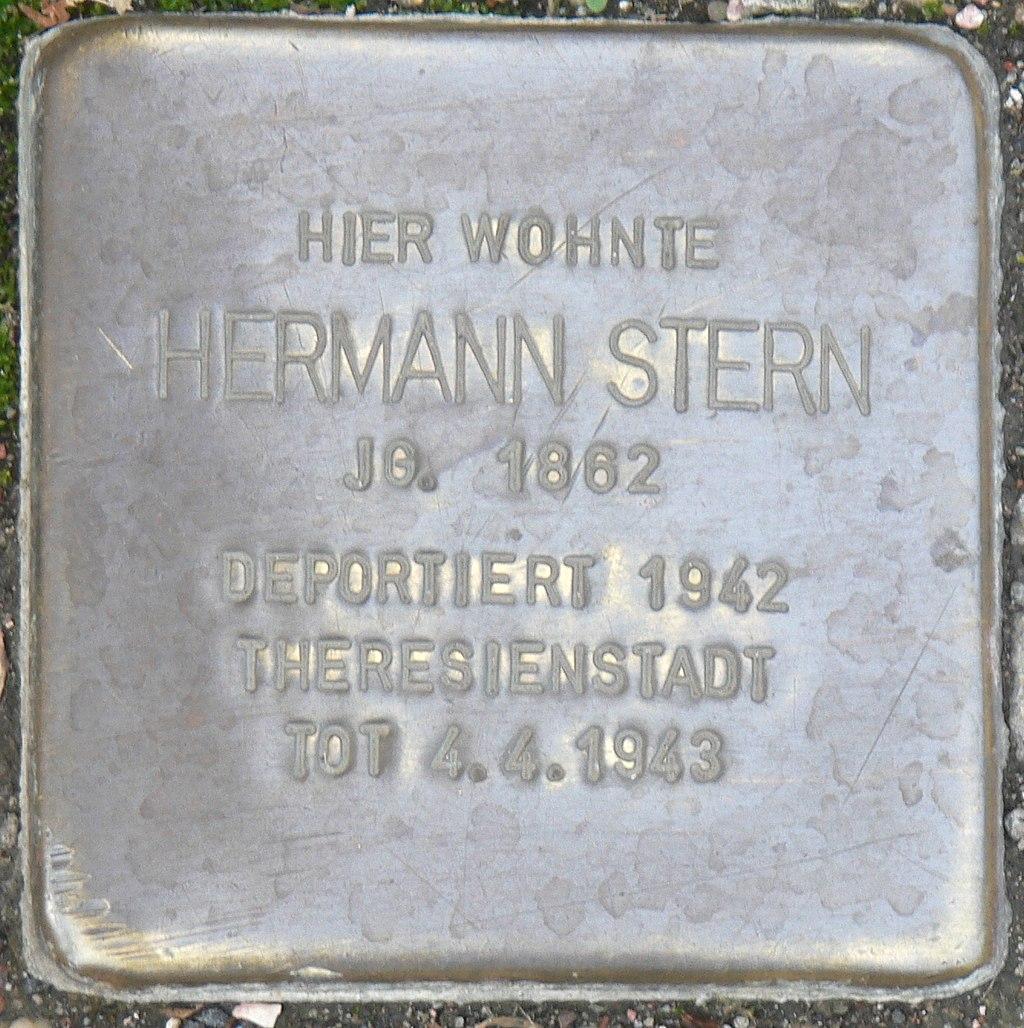 Veitshöchheim - Stolperstein Hermann Stern (Thüngersheimer Straße 39).jpg